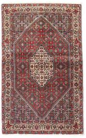 Bidjar Matta 90X143 Äkta Orientalisk Handknuten Mörkröd/Mörkbrun (Ull, Persien/Iran)