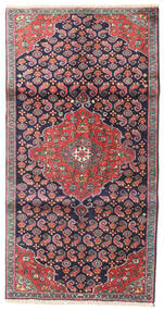 Zanjan Vloerkleed 94X180 Echt Oosters Handgeknoopt Donkergrijs/Lichtgrijs (Wol, Perzië/Iran)
