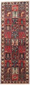 バクティアリ 絨毯 98X292 オリエンタル 手織り 廊下 カーペット 深紅色の/濃い茶色 (ウール, ペルシャ/イラン)