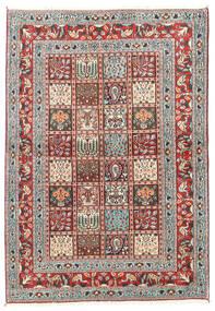Moud Matta 100X144 Äkta Orientalisk Handknuten Beige/Ljusgrå (Ull/Silke, Persien/Iran)