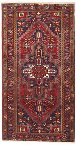 Heriz Matta 115X220 Äkta Orientalisk Handknuten Mörkröd/Mörkgrå (Ull, Persien/Iran)