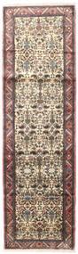 Rudbar Matto 83X274 Itämainen Käsinsolmittu Käytävämatto Tummanpunainen/Beige (Villa, Persia/Iran)
