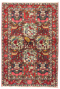 Bakhtiar Koberec 102X150 Orientální Ručně Tkaný Tmavě Červená/Tmavě Hnědá (Vlna, Persie/Írán)