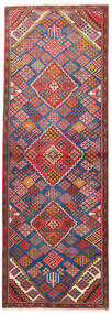 Joshaghan Rug 100X292 Authentic  Oriental Handknotted Hallway Runner  Dark Red/Rust Red (Wool, Persia/Iran)