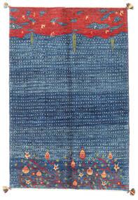 Gabbeh Kaszkuli Dywan 125X185 Nowoczesny Tkany Ręcznie Niebieski/Ciemnoniebieski (Wełna, Persja/Iran)