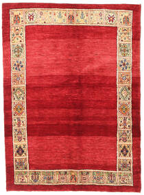 Gabbeh Kashkooli Rug 145X195 Authentic Modern Handknotted Crimson Red/Beige (Wool, Persia/Iran)