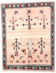 Gabbeh Kashkooli Alfombra 150X190 Moderna Hecha A Mano Rosa Claro/Beige (Lana, Persia/Irán)