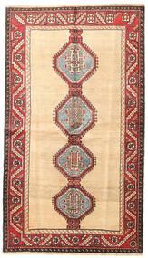 Shiraz Covor 130X225 Orientale Lucrat Manual Bej/Maro Închis (Lână, Persia/Iran)