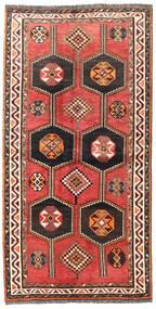 Sziraz Dywan 125X240 Orientalny Tkany Ręcznie Ciemnoczerwony/Czerwony (Wełna, Persja/Iran)