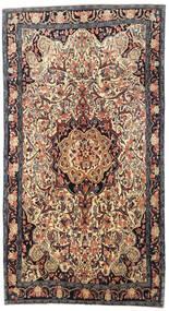 Bidjar Rug 145X275 Authentic  Oriental Handknotted Dark Brown/Light Brown (Wool, Persia/Iran)
