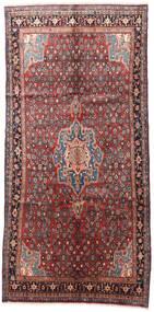 Bidjar Rug 145X305 Authentic  Oriental Handknotted Hallway Runner  Dark Brown/Dark Red (Wool, Persia/Iran)