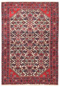 Hamadan Matto 105X155 Itämainen Käsinsolmittu Tummanruskea/Ruoste (Villa, Persia/Iran)