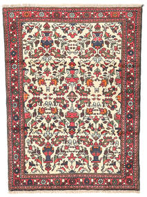 Rudbar Rug 100X135 Authentic  Oriental Handknotted Beige/Dark Brown (Wool, Persia/Iran)