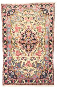 Bidjar Rug 93X145 Authentic  Oriental Handknotted Beige/Dark Grey (Wool, Persia/Iran)