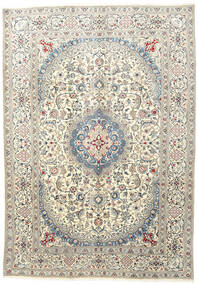 Nain Rug 233X333 Authentic  Oriental Handknotted Beige/Light Grey (Wool, Persia/Iran)