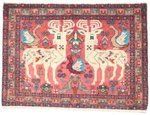 Afshar/Sirjan Covor 60X90 Orientale Lucrat Manual Roz Deschis/Bej (Lână, Persia/Iran)