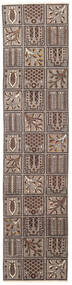 Bakhtiari Patina Rug 70X305 Authentic  Oriental Handknotted Hallway Runner  Light Grey/Dark Brown (Wool, Persia/Iran)