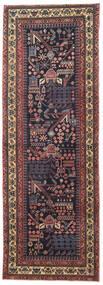 Bakhtiar Patina Alfombra 103X293 Oriental Hecha A Mano Gris Oscuro/Marrón Oscuro (Lana, Persia/Irán)