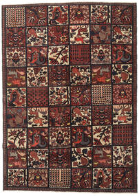 Bakhtiari Patina Rug 182X255 Authentic Oriental Handknotted Dark Red/Black (Wool, Persia/Iran)