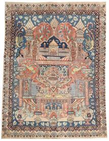 Kashmar Patina Tæppe 137X182 Ægte Orientalsk Håndknyttet Mørkebrun/Lysegrå (Uld, Persien/Iran)