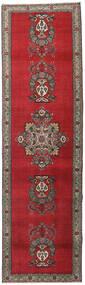 Tebriz Patina Dywan 98X345 Orientalny Tkany Ręcznie Chodnik Ciemnoczerwony/Ciemnoszary (Wełna, Persja/Iran)