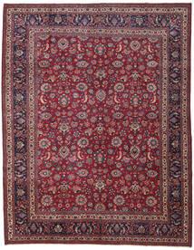 Mashad Patina Alfombra 310X398 Oriental Hecha A Mano Rojo Oscuro/Púrpura Oscuro Grande (Lana, Persia/Irán)