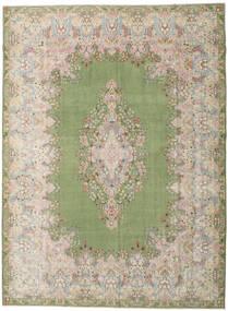 Kerman Patina Koberec 298X404 Orientální Ručně Tkaný Světle Šedá/Světle Zelená Velký (Vlna, Persie/Írán)