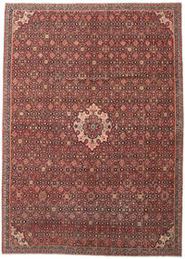 Hamadan Patina Alfombra 275X375 Oriental Hecha A Mano Rojo Oscuro/Marrón Oscuro Grande (Lana, Persia/Irán)