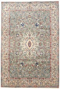 Yazd Rug 240X354 Authentic  Oriental Handknotted Light Grey/Beige (Wool, Persia/Iran)