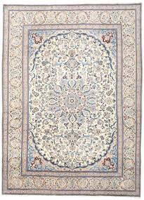 Nain Teppich  290X394 Echter Orientalischer Handgeknüpfter Hellgrau/Beige Großer (Wolle, Persien/Iran)