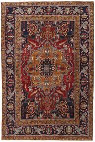 Heriz Patina Matta 243X365 Äkta Orientalisk Handknuten Mörkbrun/Mörkröd (Ull, Persien/Iran)