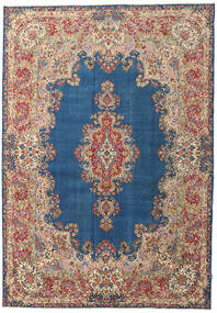 Kerman Patina Rug 273X388 Authentic  Oriental Handknotted Light Brown/Dark Blue Large (Wool, Persia/Iran)