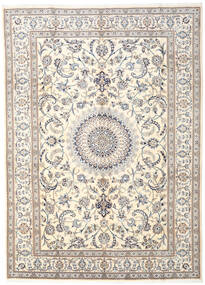 Nain Matto 282X390 Itämainen Käsinsolmittu Vaaleanharmaa/Beige Isot (Villa, Persia/Iran)