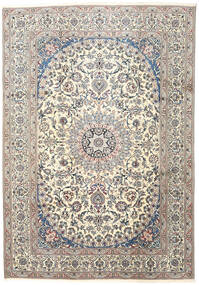 Nain Rug 245X352 Authentic  Oriental Handknotted Light Grey/Beige (Wool, Persia/Iran)