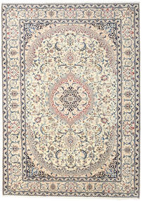 Nain Rug 240X337 Authentic  Oriental Handknotted Beige/Light Grey (Wool, Persia/Iran)