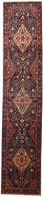 Nahavand Koberec 110X530 Orientální Ručně Tkaný Běhoun Tmavě Hnědá/Tmavě Červená (Vlna, Persie/Írán)