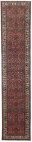 Hamadan Patina Rug 98X480 Authentic  Oriental Handknotted Hallway Runner  Dark Red/Dark Grey (Wool, Persia/Iran)