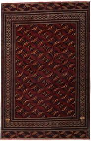 Turkaman Patina Matto 262X408 Itämainen Käsinsolmittu Tummanpunainen Isot (Villa, Persia/Iran)