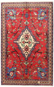 Nahavand Koberec 160X253 Orientální Ručně Tkaný Červená/Tmavě Červená (Vlna, Persie/Írán)