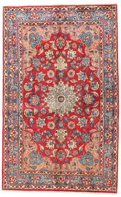Najafabad Teppe 153X244 Ekte Orientalsk Håndknyttet Mørk Rød/Lysbrun (Ull, Persia/Iran)