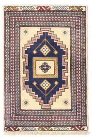 Turkaman Covor 60X90 Orientale Lucrat Manual Bej/Gri Închis (Lână, Persia/Iran)