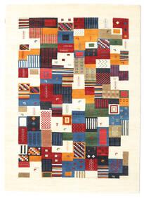ギャッベ Loribaft 絨毯 170X238 モダン 手織り ベージュ/濃いグレー (ウール, インド)