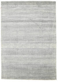 Gabbeh Loribaft Rug 170X243 Authentic  Modern Handknotted Light Grey/Turquoise Blue (Wool, India)
