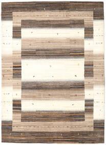 Gabbeh Loribaft Rug 174X243 Authentic  Modern Handknotted Beige/Dark Brown (Wool, India)
