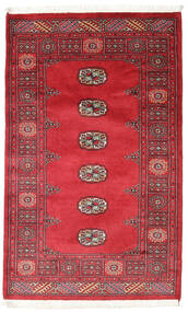Pakistan Bokhara 2Ply Rug 96X157 Authentic  Oriental Handknotted Crimson Red/Rust Red (Wool, Pakistan)
