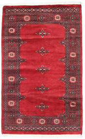 Pakistan Bokhara 2Ply Rug 97X157 Authentic  Oriental Handknotted Crimson Red/Dark Red (Wool, Pakistan)