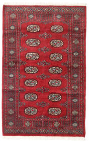 Pakistan Bokhara 2Ply Rug 94X147 Authentic  Oriental Handknotted Crimson Red/Dark Red (Wool, Pakistan)