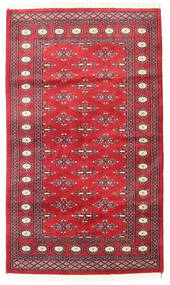 Pakistan Bokhara 2Ply Rug 94X160 Authentic  Oriental Handknotted Crimson Red/Rust Red (Wool, Pakistan)