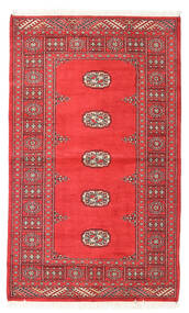 Pakistan Bokhara 2Ply Rug 93X156 Authentic  Oriental Handknotted Dark Red/Rust Red (Wool, Pakistan)