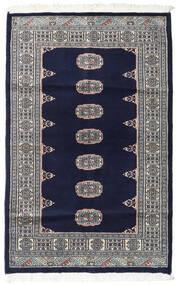 Pakistan Bokhara 2Ply Matta 96X150 Äkta Orientalisk Handknuten Svart/Ljusgrå (Ull, Pakistan)